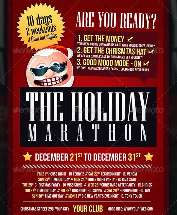 Holiday Flyer Template Example  Free Travel Brochure Templates
