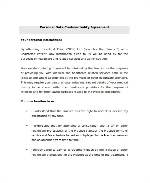 personal assistant confidentiality agreement - Boatjeremyeaton - confidentiality agreement sample