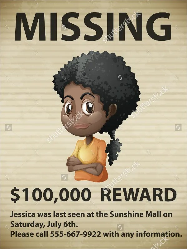 12+ Missing Poster Templates - Free PSD, EPS, AI Format Download