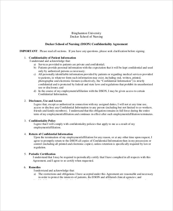 sample medical confidentiality agreement - fototango