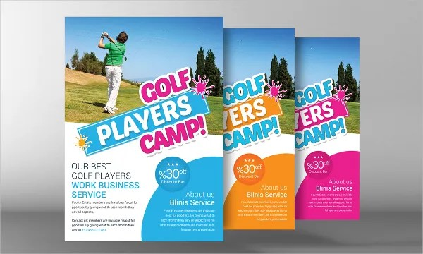 22+ Golf Flyer Templates - Free PSD, AI, EPS Format Download - camp flyer template