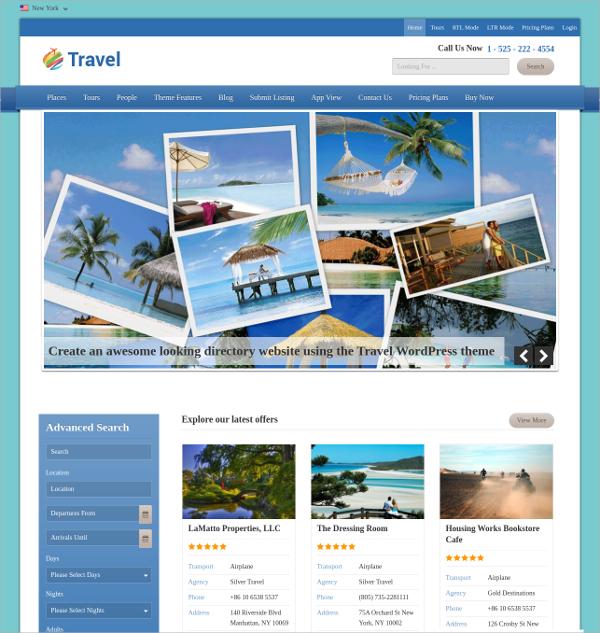 10+ Free Travel  Travel Agencies WordPress Themes  Templates - wordpress travel themes
