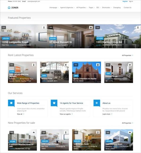15+ Free Real Estate Agencies, Realtors WordPress Themes  Templates