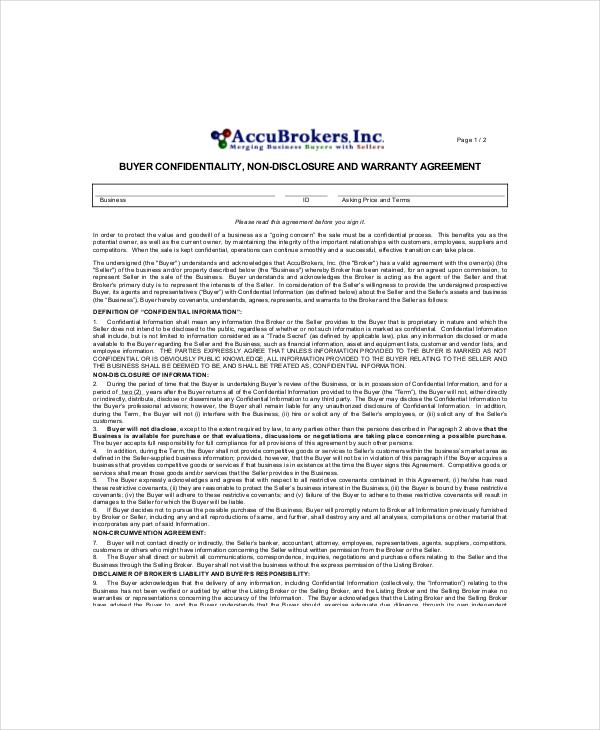 14+ Vendor Confidentiality Agreement Templates - Free Word, PDF
