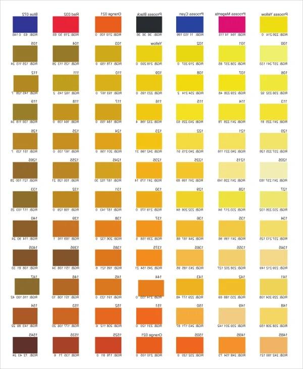Color Chart \u2013 10+ Free Word, PDF Documents Download Free  Premium