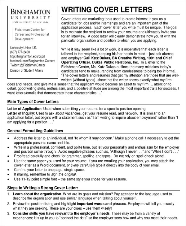 25+ Cover Letter Templates  Samples - DOC, PDF Free  Premium
