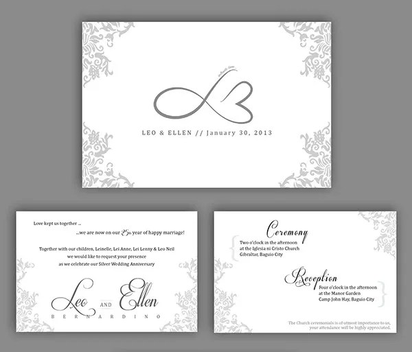 20+ Wedding Anniversary Invitation Card Templates Which Will Melt