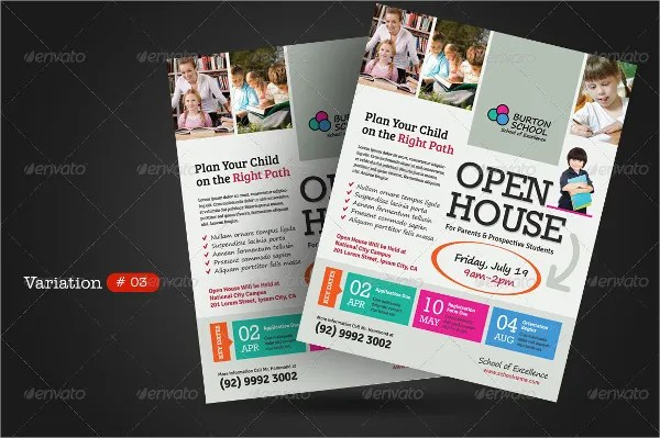 26+ School Flyers - Free PSD, AI, EPS Format Download Free - open house flyer