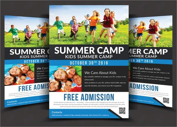 17+ School Flyers - Free PSD, AI, EPS Format Download Free - camp flyer template