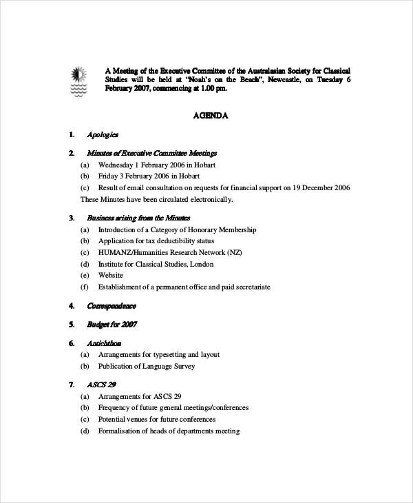 Political Agenda Template sle political agenda - teacheng sample - political agenda template