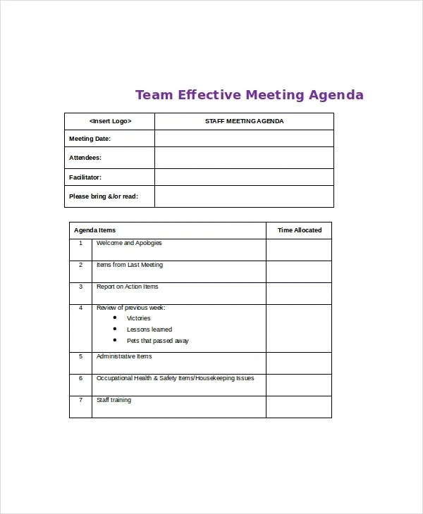 best meeting agenda template - Idealvistalist - microsoft word meeting agenda template