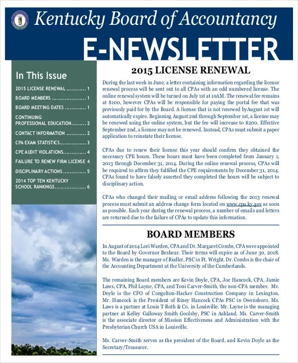 newsletter templates pdf - Onwebioinnovate