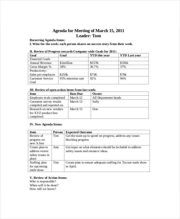 sales meeting template - Maggilocustdesign - how to make an agenda for a meeting template