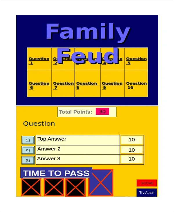 family feud power point template. Black Bedroom Furniture Sets. Home Design Ideas