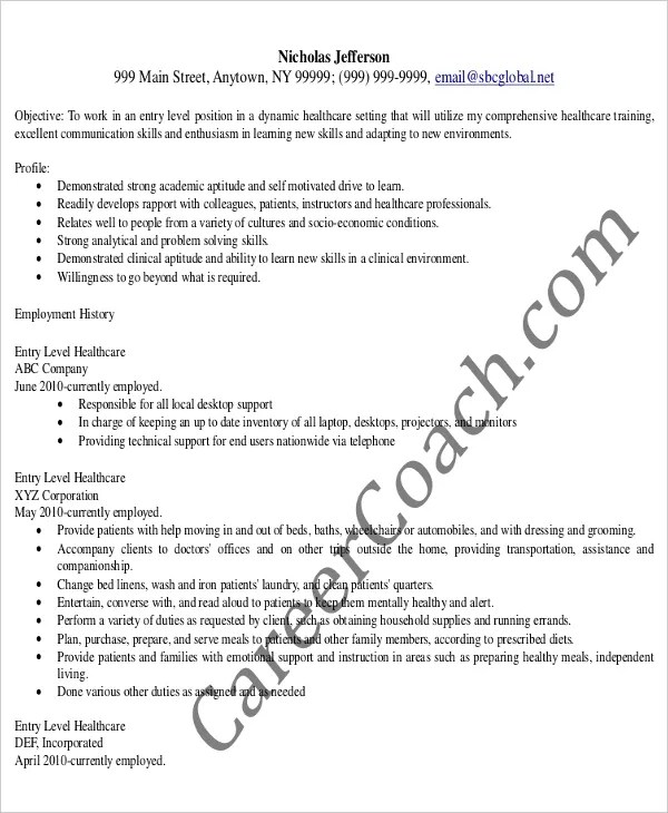 Entry Level Administrative Assistant Resume \u2013 7+ Free PDF Documents - administrative officer sample resume