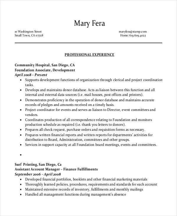 Entry Level Administrative Assistant Resume u2013 7+ Free PDF - office assistant sample resume