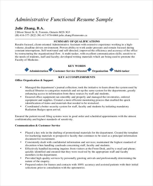 Medical Administrative Assistant Resume \u2013 10+ Free Word, PDF