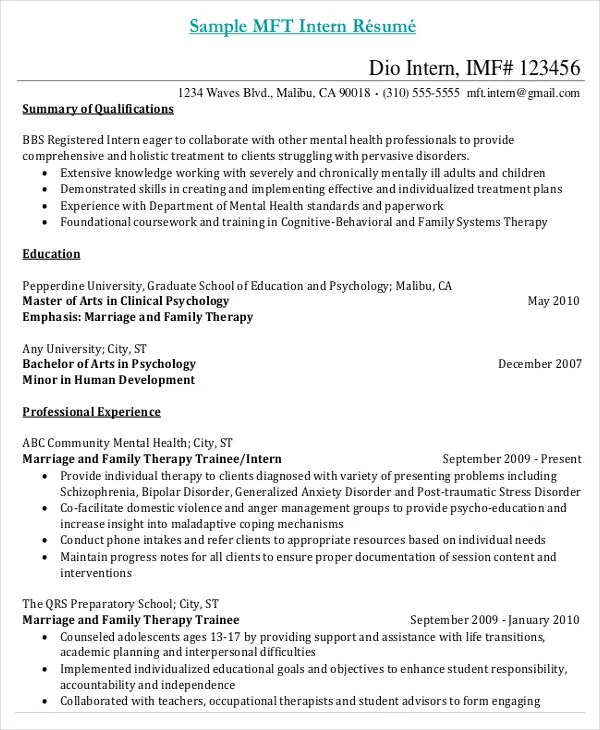 Resume Sample For Medical Internship \u2013 resume