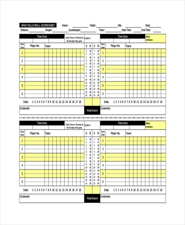 Awesome Sample Tennis Score Sheet Template Gallery - Resume - sample tennis score sheet template
