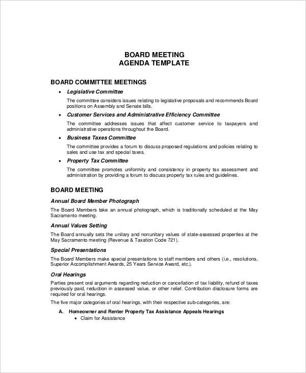 12+ Budget Meeting Agenda Templates \u2013 Free Sample, Example Format