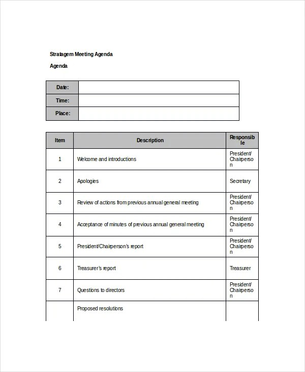 10+ Client Meeting Agenda Templates \u2013 Free Sample, Example Format - meetings template
