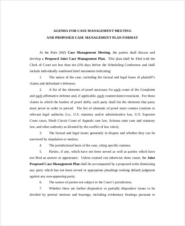 10+ Management Meeting Agenda Templates \u2013 Free Sample, Example