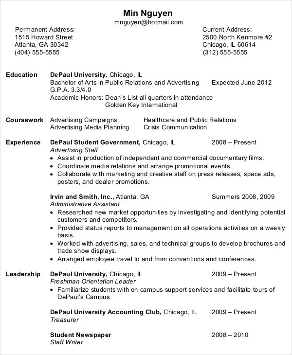 10+ Entry Level Administrative Assistant Resume Templates \u2013 Free - resume format administrative assistant