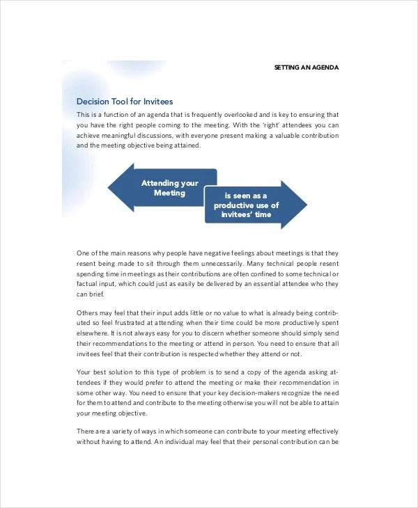 10+ Marketing Meeting Agenda Templates \u2013 Free Sample, Example Format - best agenda template