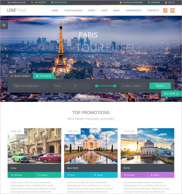 41+ Travel WordPress Themes  Templates Free  Premium Templates - wordpress travel themes