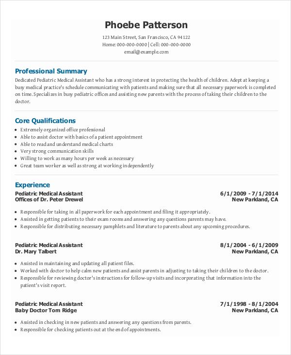 medical assistant program director resume sample
