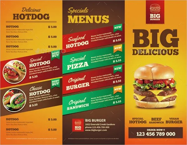 13+ Fast Food Brochures - Free PSD, AI, EPS Format Download Free - emerald flyer template