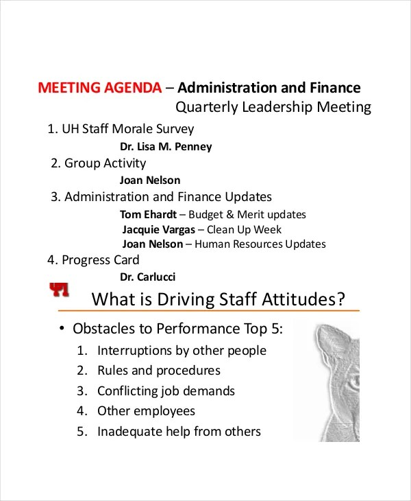 9+ Staff Meeting Agenda Templates u2013 Free Sample, Example Format - sample meeting agenda 2