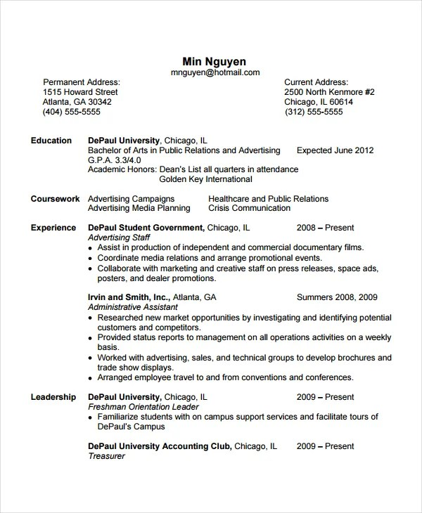 5+ Flight Attendant Resume Templates - Free Word, PDF Document - personal statement on resume