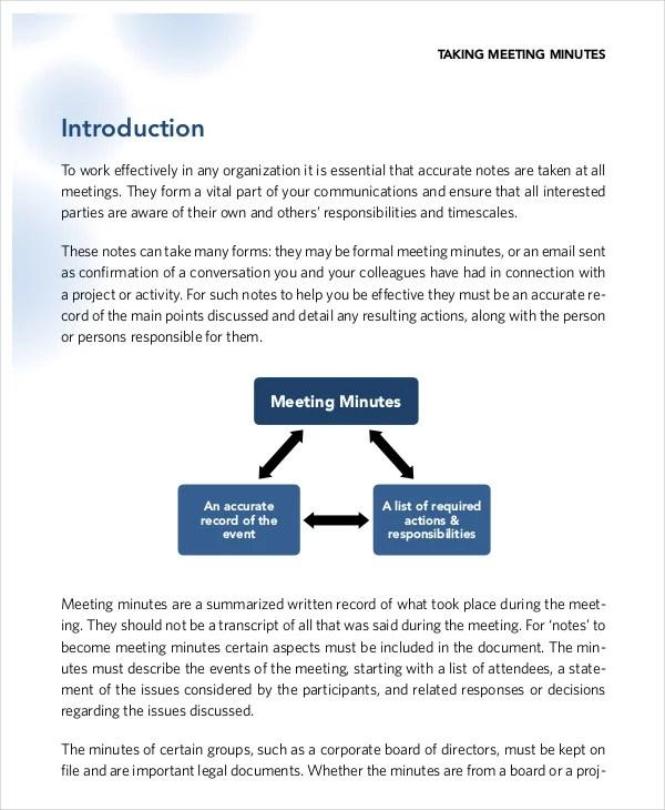 Taking Minutes Template u2013 10+ Free Word, PDF Documents Download - free meeting minutes template word