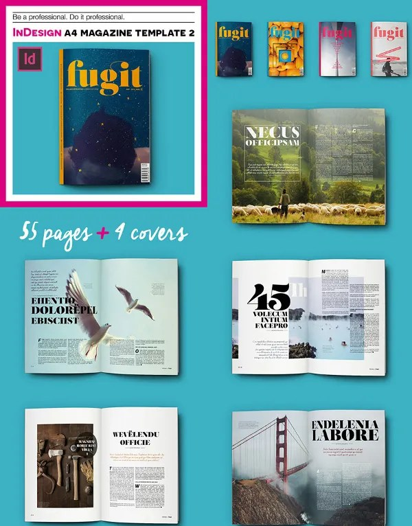 30+ Creative Magazine Print Layout Templates for Free Free
