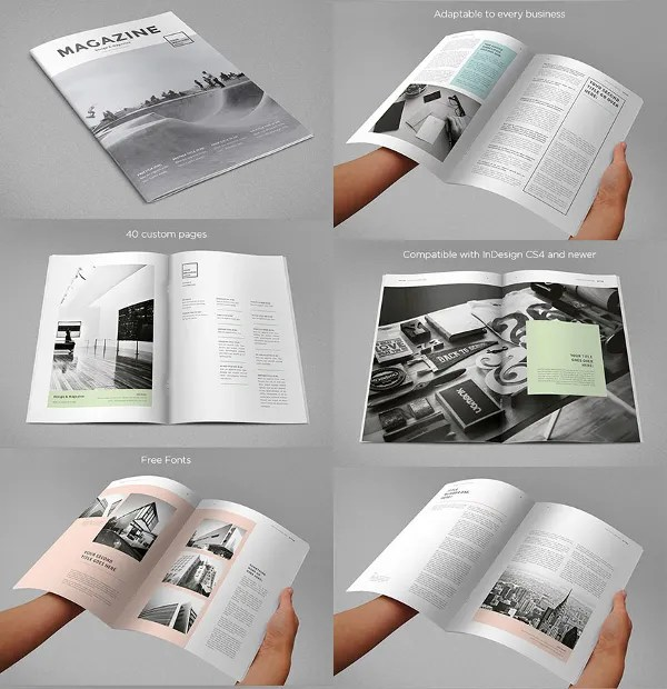 31+ Creative Magazine Print Layout Templates for Free Free