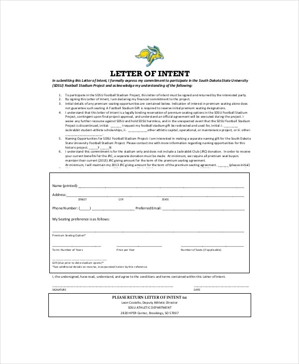 ... Uk 15+ Letter Of Intent Template   Free Sample, Example, Format   Letter  Of ...  Letter Of Intent Template Uk