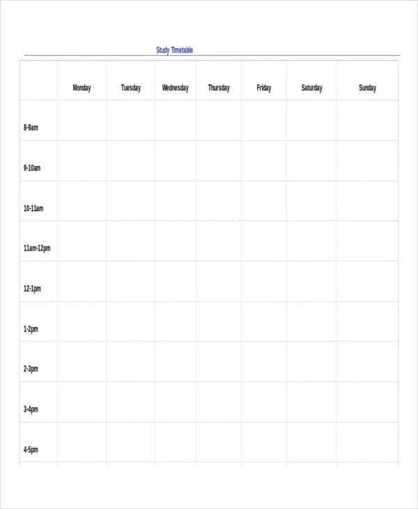 13+ Timetable Templates - Free Sample, Example, Format Free