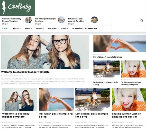 15+ Free Beautiful Blogger Templates Free  Premium Templates - fashion blogger templates