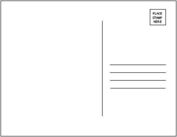 19+ Postcard Templates - Free PSD, EPS, AI Format Download Free - printable postcard template free
