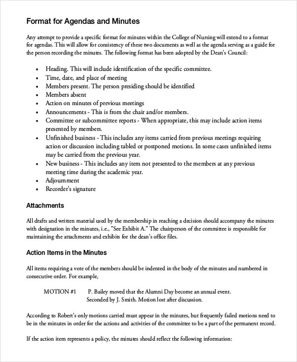taking minutes for a meeting template - Canasbergdorfbib