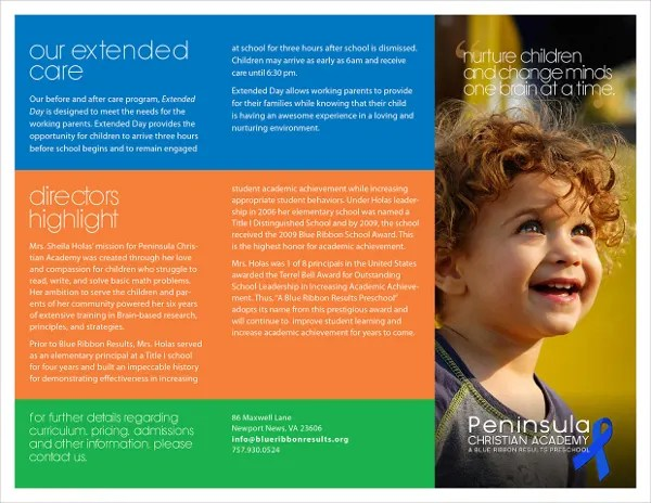 21+ Preschool Brochure - Free PSD, AI, EPS Format Download Free