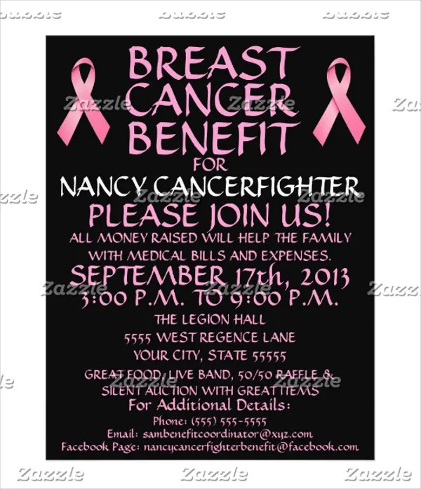 16+ Breast Cancer Flyers - Free PSD, AI, EPS Format Download Free - cancer fundraiser flyer template