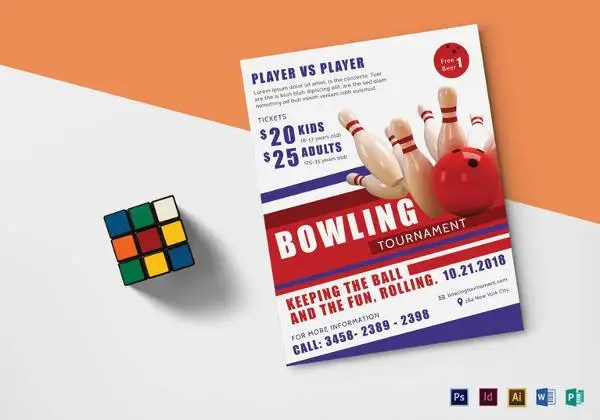 Bowling Flyer Template Free nfcnbarroom