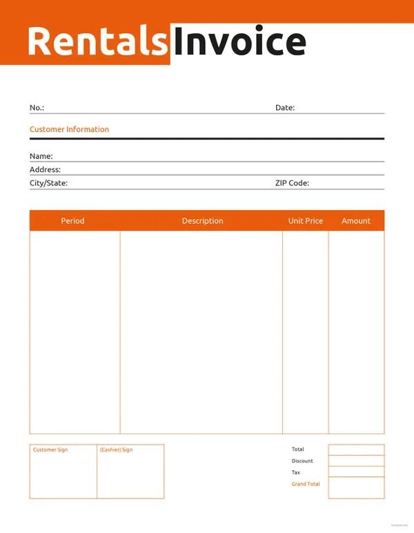 Rental Invoice Template - 6+ Free Word, PDF Document Download Free - rent invoice template excel