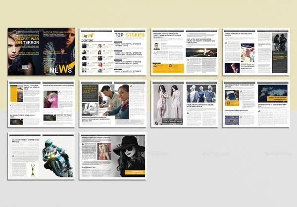 Magazine Layout Template Hospinoiseworksco