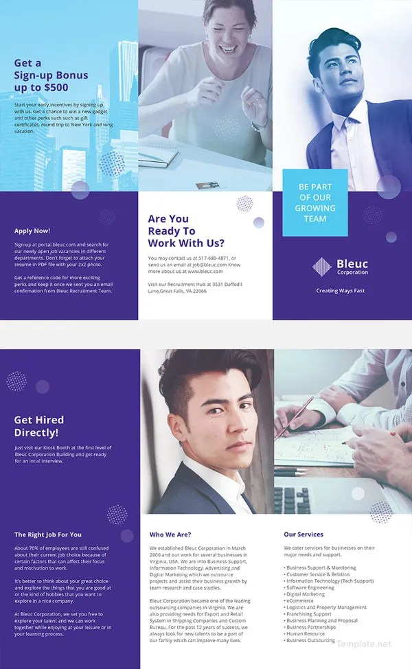 20+ Recruitment Brochures - Free PSD, AI, Apple Pages, Google Docs