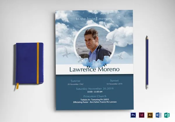 11+ Funeral Flyer Templates - Free PSD, EPS, AI Format Download - funeral poster templates