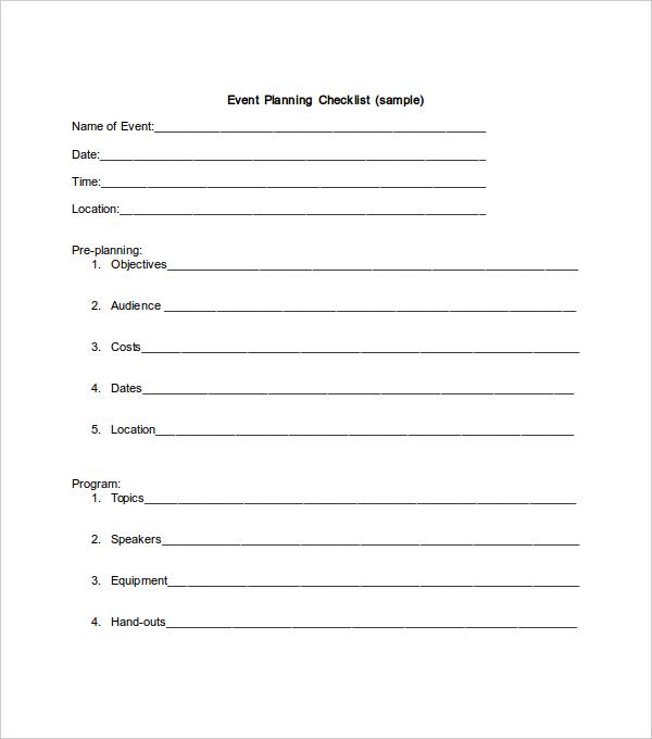 Party Planning Checklist Let Me Entertain You PinterestEvent - sample event checklist template