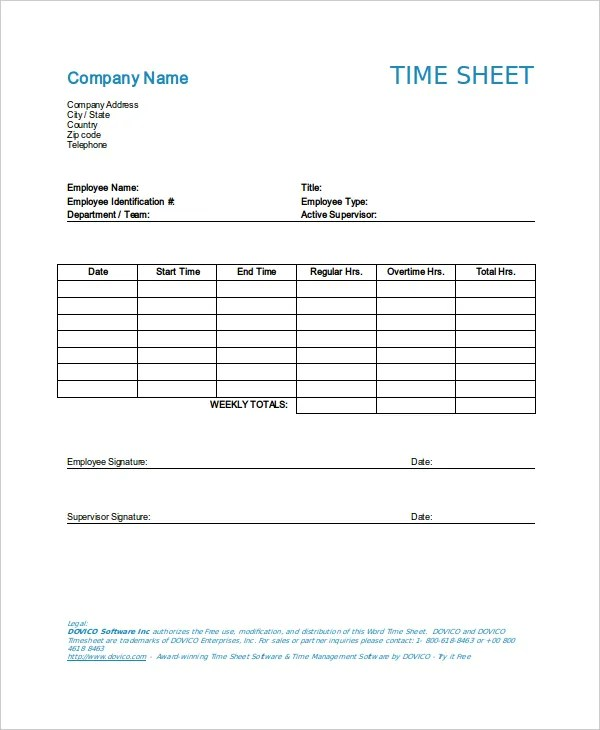 11+ Time Log Templates - PDF, Word, Excel Free  Premium Templates - time log template
